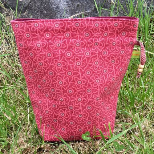 Vintage Fabric Knitting Bag - Pastilles